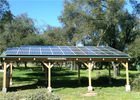 Outdoor Carport Solar Systems Waterproof Photovoltaic Panel High Stability